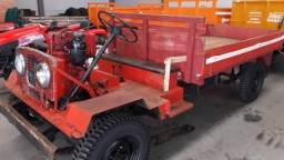 Carreta agrícola 4x4 reduzida motor M90 com 16cv