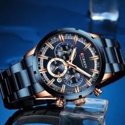 Relógio Curren blue multifuncional importado e original