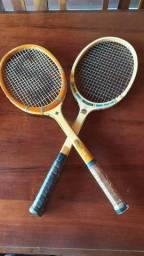 Raquetes de Tênis Antigas em Madeira