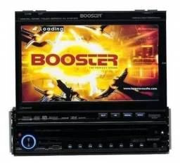 Multimídia automotiva retrátil booster 9750 TV/ CD/DVD USB