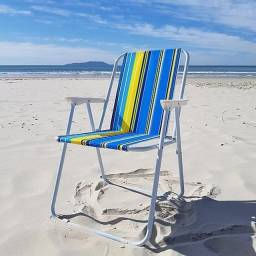 Cadeira de Praia Adulto - Caixa com 10 Unidades