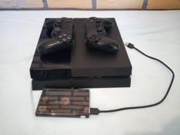 Playstation 4 + controle + HD 500gb