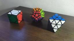 3  Cubos Mágicos  (megaminx, Octaedro E Skewb) + Brinde