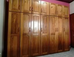 Guarda Roupa 7 portas - madeira nobre (Freijó)
