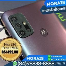 Motorola G30 128Gb Preto Prisma (LACRADO COM NOTA FISCAL E GARANTIA DE FÁBRICA)