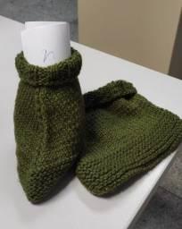 Sapato de lã adulto - produto artesanal