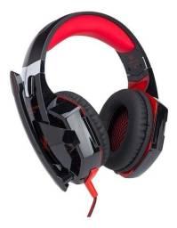 Headset Gamer Led Vermelho