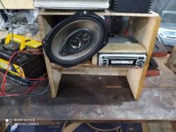 2 modelos par de alto Pioneer 69 rádio Pioneer cd AM   FM
