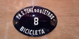 Placa de bicicleta - São Tomé das Letras (MG)