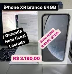 iPhone XR branco 64GB Lacrado c/ nota fiscal