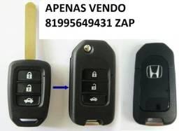 Chave Canivete Carcaça Oca Honda New Civic City Crv