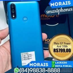 Motorola E7 Power 32Gb Azul  (LACRADO COM NOTA FISCAL E GARANTIA DE FÁBRICA)