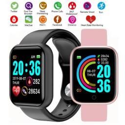 Relogio Smartwatch Y68 D20 Android Ios Rosa