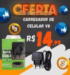 CARREGADOR DE CELULAR V8