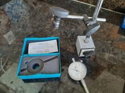 Relógio comparador + base magnética