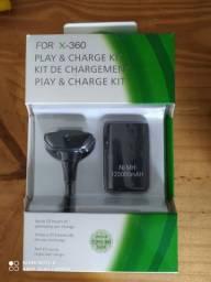 Bateria com cabo usb para controle de Xbox 360