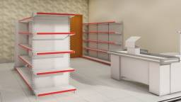Kit para mercearia mercadinho de 70 a 80 m²