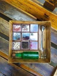Caixa de especiarias - Presente pro Paizão