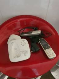 Telefone c secretaria eletronica e extensão