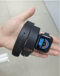 Smart Watch Y68 USB Esportivo / com Monitor de Frequência Cardíaca Pulseira