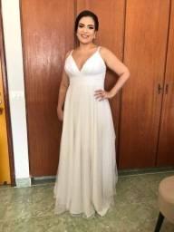 Título do anúncio: Vestido de noiva Perfeito estado! Tamanho M/G