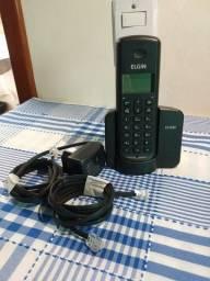 TELEFONE SEM FIO C IDENTIFICADOR E VIVA VOZ ELGIN
