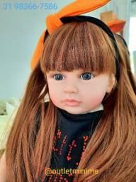 Bebê Reborn Boneca Original cabelo fios de seda alta qualidade Promocao Imperdível