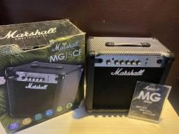 Título do anúncio: Cubo caixa de guitarra marshall mg15 cf seminova estado de zero