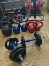 Kit para treino de musculação