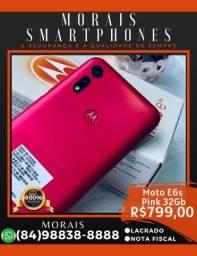 Motorola E6s Pink 32Gb (LACRADO COM NOTA FISCAL E GARANTIA DE FÁBRICA)