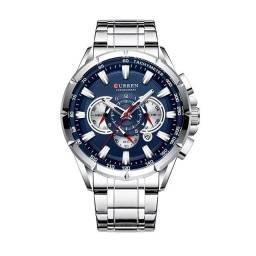 Relógio Curren Original - Aço Inoxidável / 3ATM / Vidro Mineral Endurecido