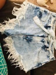 Short jeans vendo ou troco
