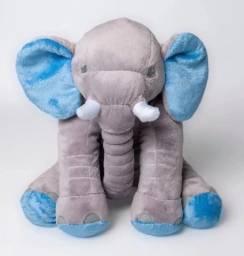 Elefante de Pelúcia 55cm Travesseiro Bebê Antialérgico