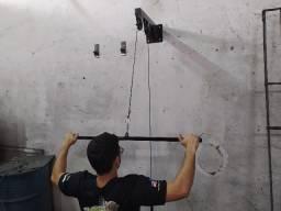 Puxador pulley de parede treine em casa