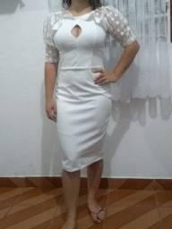 Vestido Branco Civil Ana Tuori NOVO