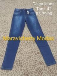 Calça Jeans Marinho Tam 40 e 42