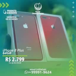 IPHONE 8 PLUS 64GB VERMELHO ( IMPECAVEL CAIXA COM ACESSÓRIOS) GARANTIA
