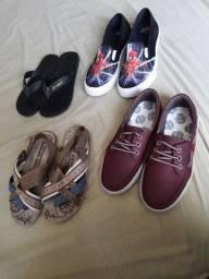 Lote calçados 32/33/34- 4 pelo preço de 1