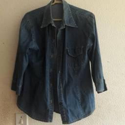 Ternos (2) jaqueta jeans (1) feminino