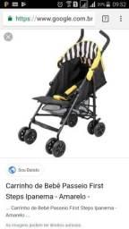 Carrinho de Bebê Passeio First Steps Ipanema - Amarelo