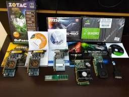 Lote de placas de vídeo profissionais NVidia GeForce Ati Radeon confira