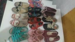Lote de 13 sapatos Por R$90,00