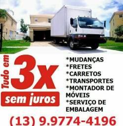 Praia Grande mudança e transportes para todo o Brasil