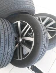 Vendo Rodas Hilux srx aro 20 4500 com pneus novos - 2015