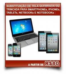 Telas, Display, Touchs Para Notebooks e Celulares