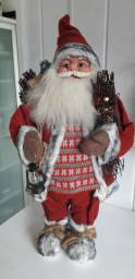 Papai Noel Luxo Boneco Natal Natalino Decoração Lampião 68cm