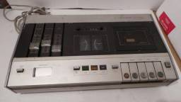 Título do anúncio: Antigo toca fitas tape deck philips stereo hifi cassete modelo n2510