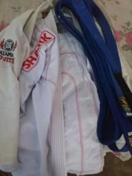 Kimono a3 faixa azul a3 jiu jitsu - judô