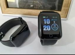 Smartwatch Preto D13 - Novo na Caixa