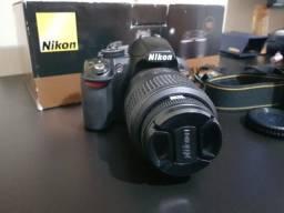 Nikon D3100 + 18-55mm muito conservada caixa e acessórios